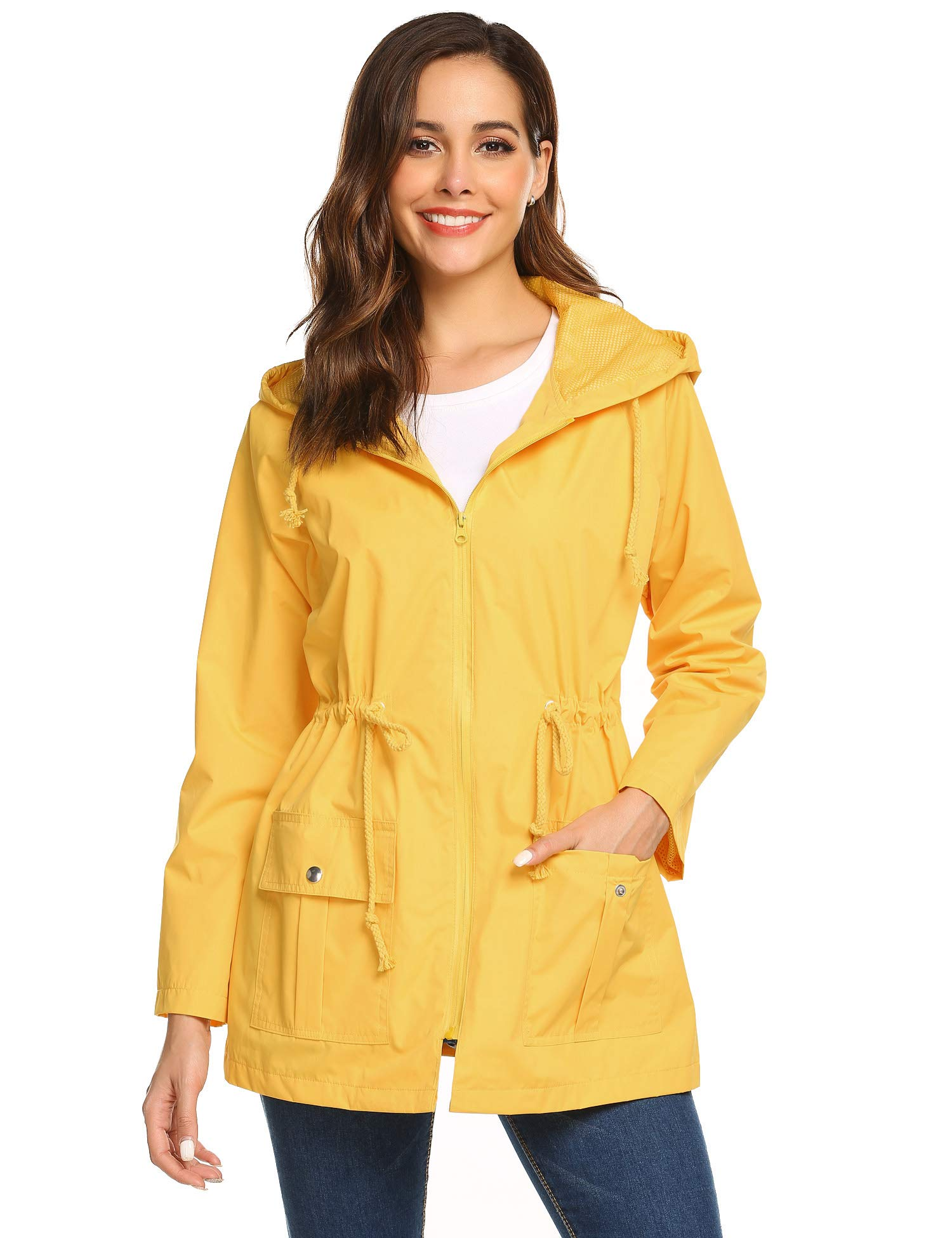 BEAUTEINE Womens  Waterproof Raincoat Lightweight Rainjacket Outwear Hooded  Running Windbreaker product image fbd69faac