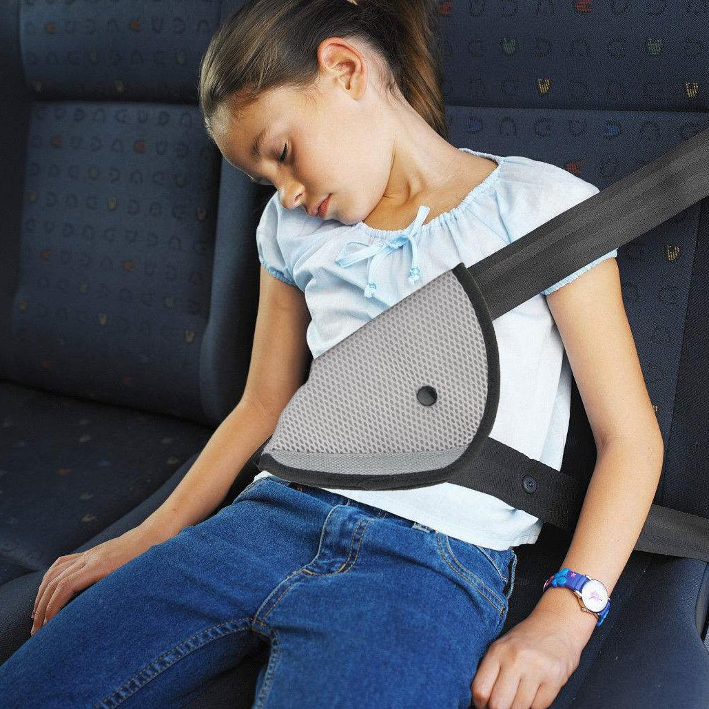 R.HORSE 4Pack Seatbelt Pillow Car Seat Belt Covers for Kids, Adjust Vehicle Shoulder Pads Safety Belt Protector Cushion Plush Soft Auto Seat Belt Strap Cover Headrest Neck Support for Children Baby