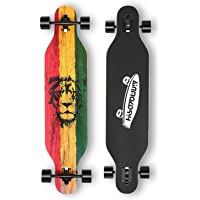 41 Inch Longboard Skateboard,Freeride Complete Cruiser Skateboard-8-Ply Canadian Maple,Drop-Through and Downhill