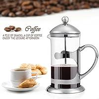 Sailnovo 1000ml Kaffeebereiter French Press 2 IN 1/mit Edelstahlfilter/Kassischer Design/ für herrlichen aromatischen Espresso oder Tee/Schenell Einfache genißen/Aroma-Genuss durch den Kaffeebereiter