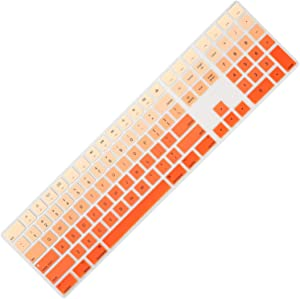 Allinside Ombre Orange Cover for Apple iMac Magic Keyboard with Numeric Keypad MQ052LL/A A1843 US Layout