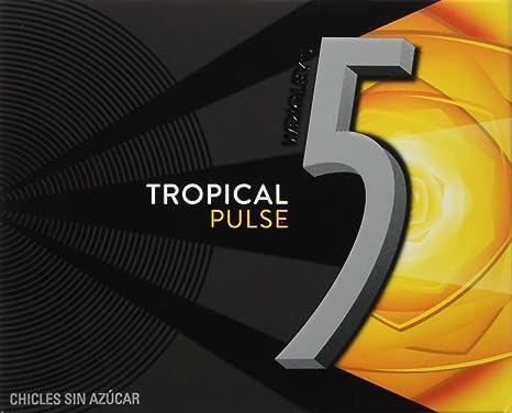 2e967d3fd 5 - Pulse - Chicle sin azúcar con sabor tropical - 12 láminas -  Pack