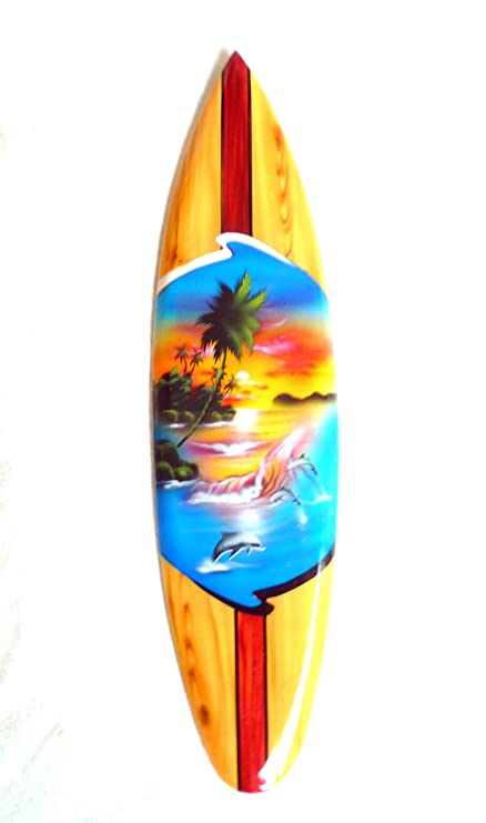 Miniature Deko Surfboard Wood Lenght 30 Cm Amazoncouk Kitchen Home