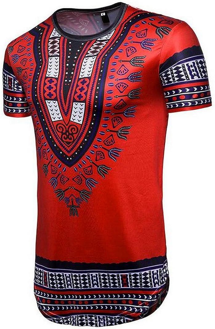 Oberora-Men Long Sleeve Solid Cotton Turtleneck Thermal Tee Shirt Tops