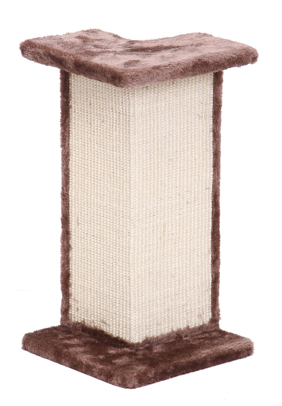 Penn Plax Sisal Cat Scratcher Wall Corner Post and Perch by Penn Plax