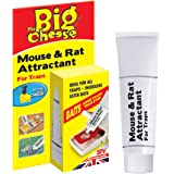 The Big Cheese Mouse and Rat Attractant (Natural, Poison-Free Bait, Attracts Rodent Pests, Re-baits up to 60 Traps), 26 g Tube
