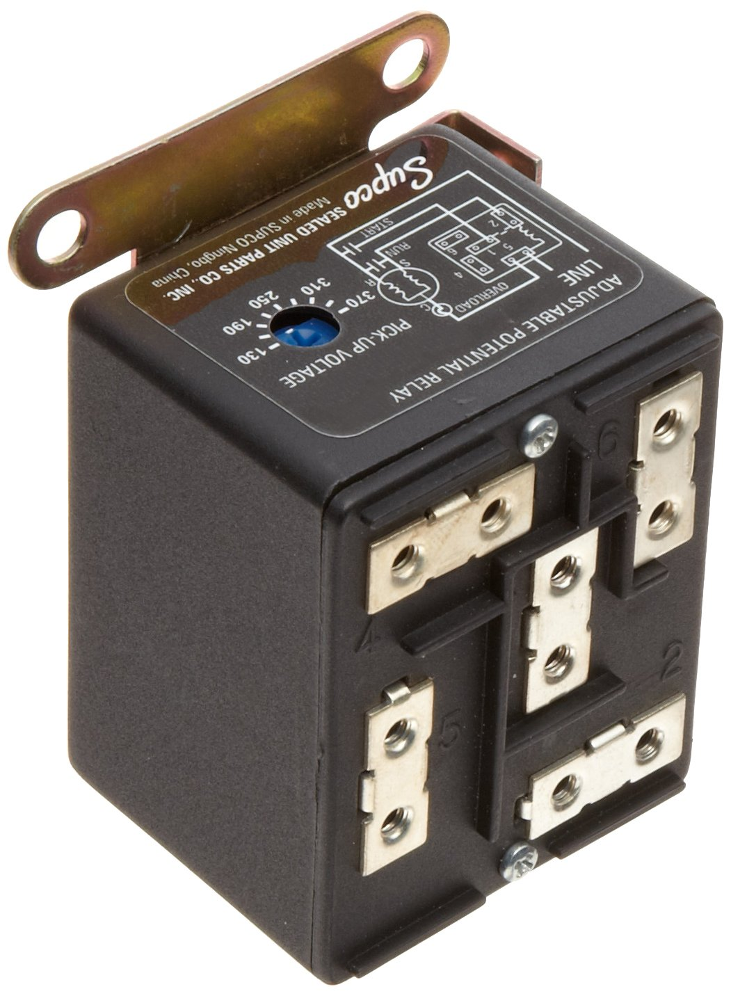Packard Aftermarket Replacement Motor Start Capacitor 161-193 MFD 220-250 Volt Supco PTMJ161