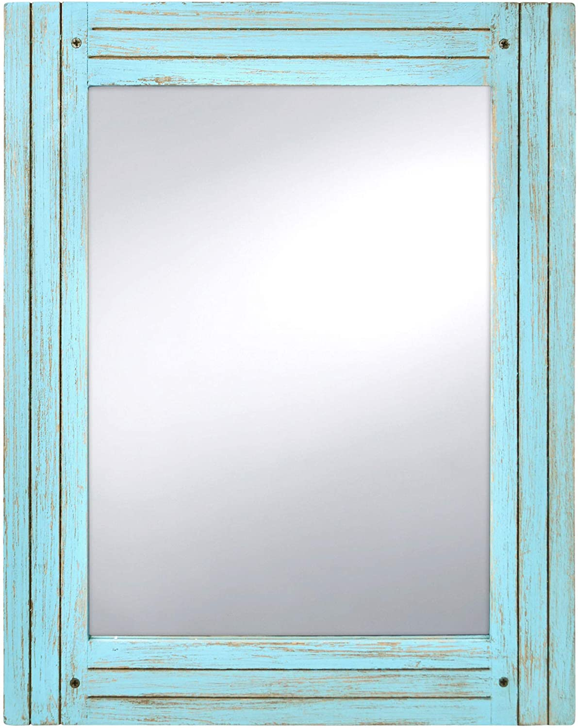 PRINZ Water's Edge Distressed Mirror, Blue