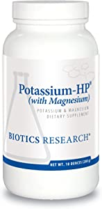 Biotics Research Potassium-HP®– Potassium with Magnesium. Powdered Formula. Electrolyte. Supports Cardiovascular, Renal and Bone Health. Essential Mineral for Vascular and Muscle Function. 10oz