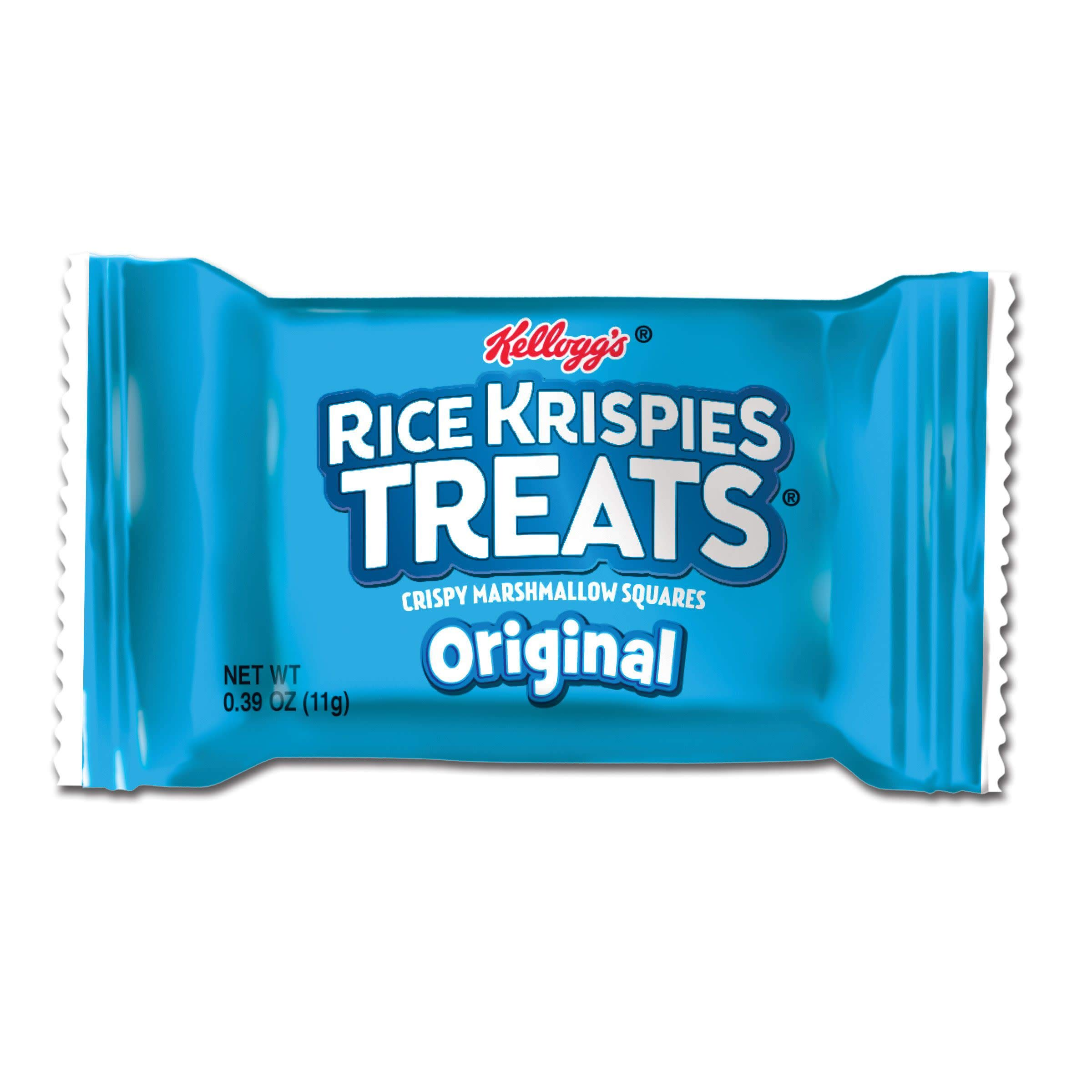 Kellogg's Rice Krispies Treats, Mini Squares, Crispy Marshmallow Squares, Original, Bulk Size (Pack of 600, 0.39 oz Bars)
