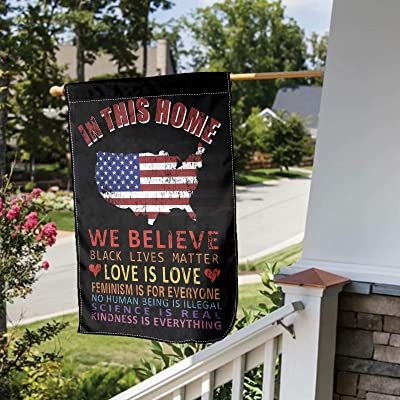 In This House We Believe Polyester Flag Outdoor Indoor Banner
