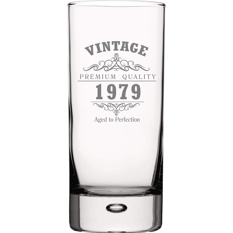 Vintage 1979 40th Birthday Verre haute boule /à bulles