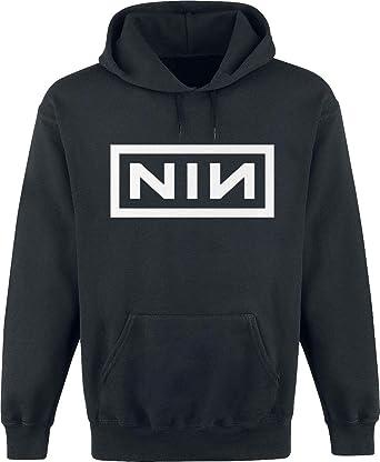 Nine Inch Nails Classic Logo Sudadera con Capucha Negro: Amazon.es: Ropa y accesorios
