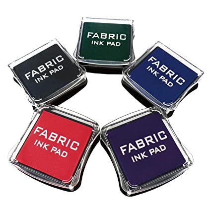 Amazon Best Stamp Fabric Ink Pad Stamps Set 5 Colors Non Toxic