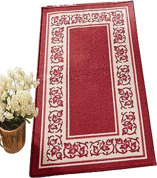Maquna lavable azul marino y rojo tradicional alfombra persa diseño Oriental ahora el 25/% De