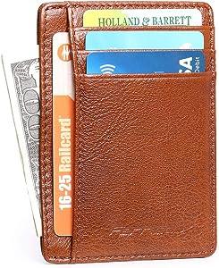 Free Genuine Leather Slim Front Pocket Minimalist Money…
