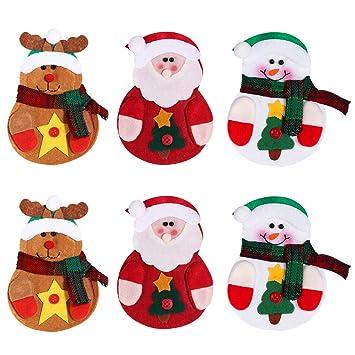 Amazon.com: LUOEM 6pcs Navidad cuchillos tenedores bolsa de ...