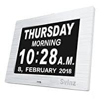 SVINZ 8'' Digital Calendar Memory Loss Day Clock