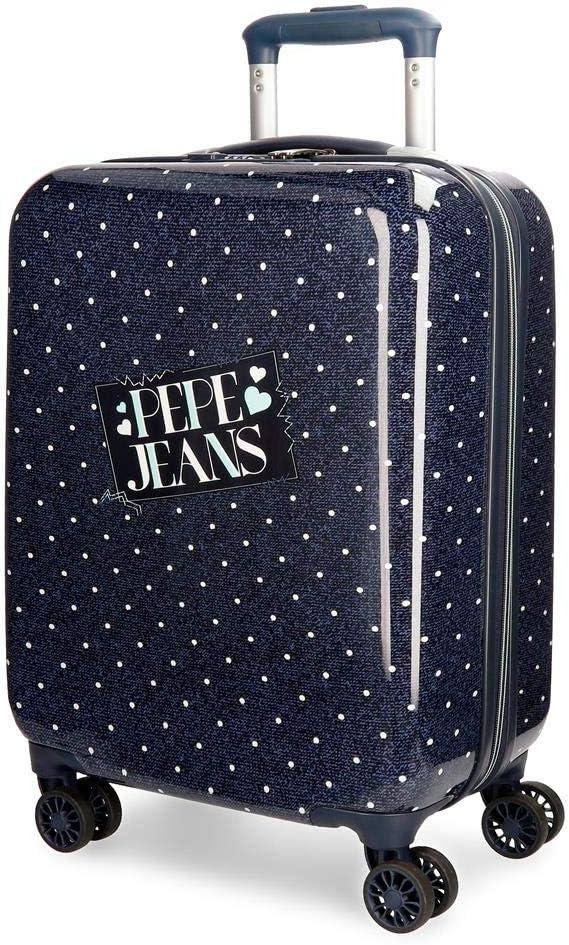 Maleta de cabina Pepe Jeans Olaia azul rígida 55cm