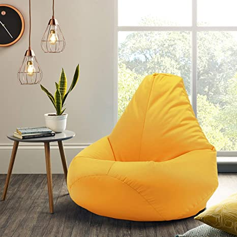 InkCraft Bean Bag XXL Size Empty Cover  Without Beans    Lemon