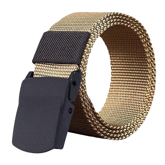 HCFKJ Cinturones De Moda Hombre Mujer CinturóN De Nylon ...