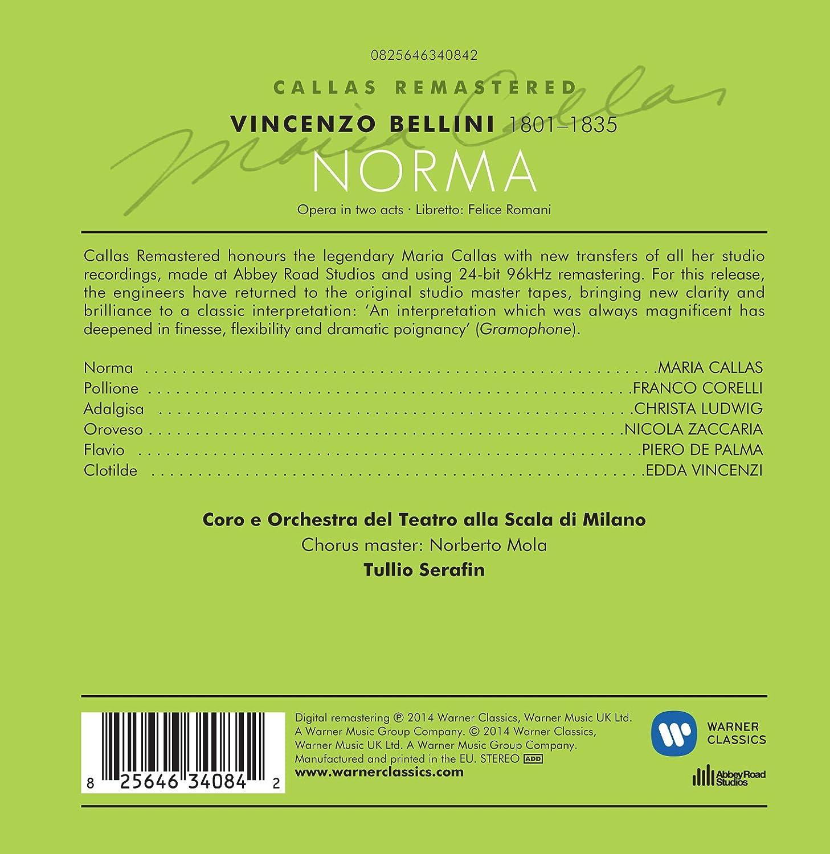 76d4d377f70 Bellini  Norma - Callas Remastered  Maria Callas  Amazon.es  Música