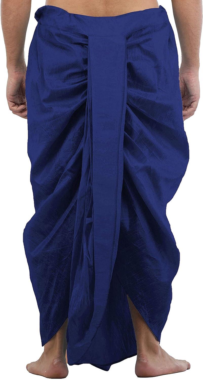 Maenner-Dhoti-Dupion-Silk-Plain-handgefertigt-fuer-Pooja-Casual-Hochzeit-Wear Indexbild 65