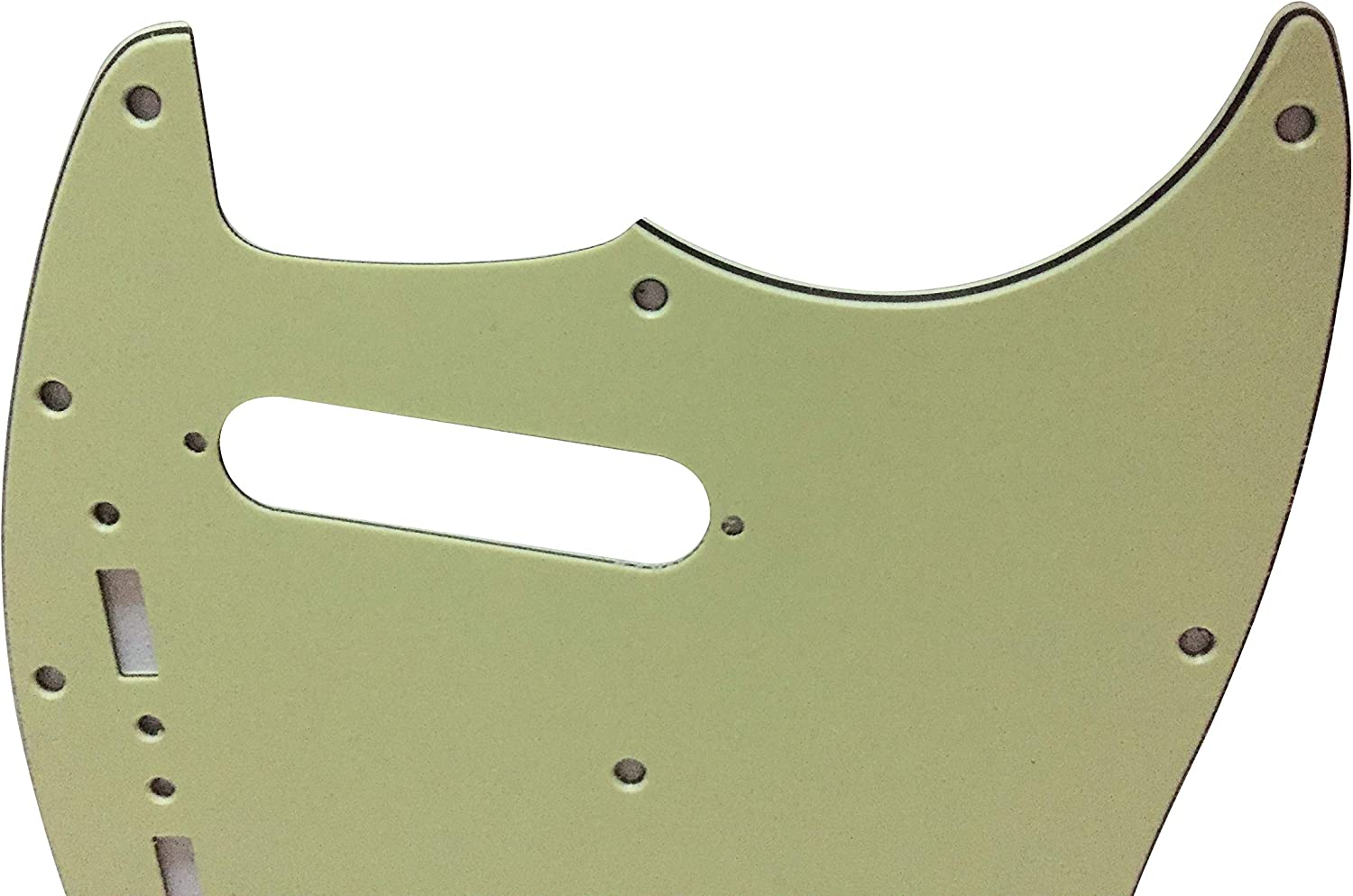 Custom For US Mustang Classic Series Style Guitar Pickguard Scratch Plate 3 Ply Black