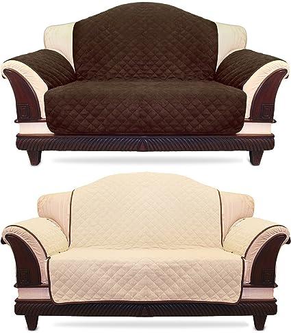 Utopia Bedding Reversible Sofa Cover With Elastic Strap U2013 Micro Suede Sofa  Slipcover U2013 Stylish Furniture