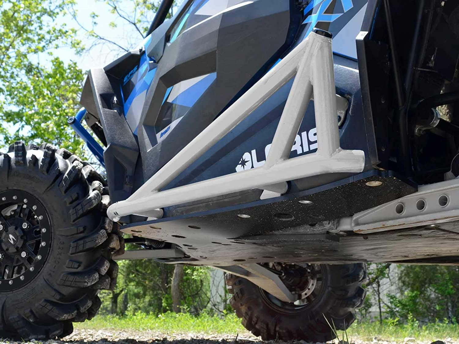 - Compatible With Our Full Protection Kit! SuperATV Rock Sliding Nerf Bars for Polaris RZR XP Turbo 2016+ Black