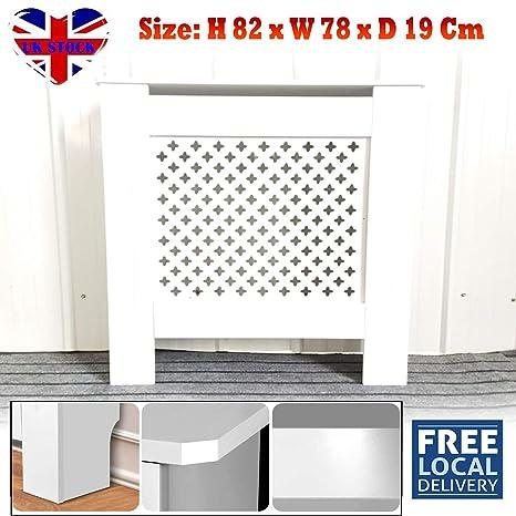 SiKy Cubierta para radiador de Color Blanco con Listones de ...