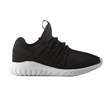 852704543c1 Amazon.com  Adidas Tubular Radial Kids Trainer - Black Black White ...