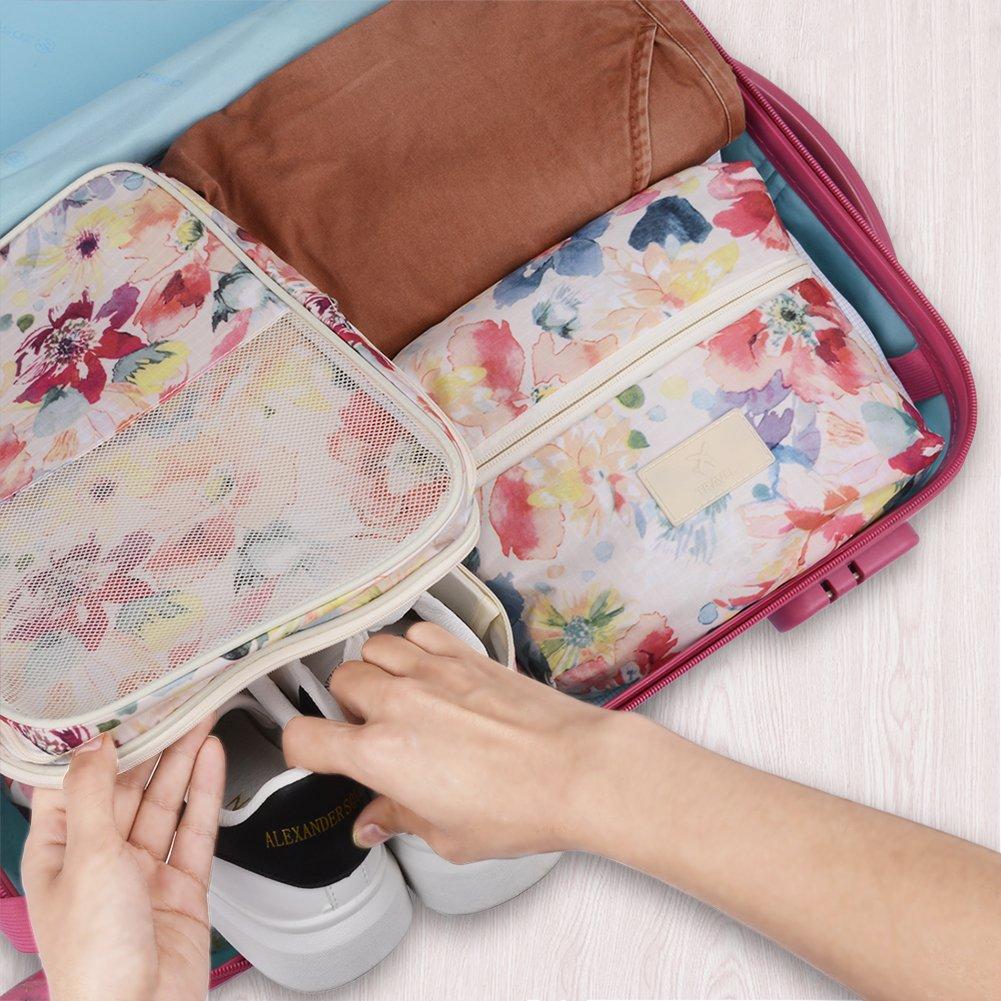 Faltbare Reisetasche Großer Kapazität Superleichtes Tragbares Handgepäck Wasserresistent Reisegepäck Bags für Herren und Damen (Pink)