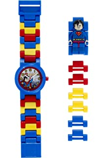 691507c52f5 LEGO DC Comics 8020257 Super Heroes Superman Kids Minifigure Link Buildable  Watch | blue/red
