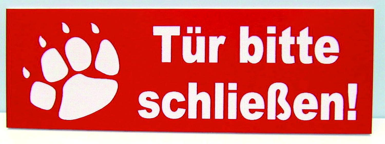 Torschild Rot Tor bitte schlie/ßen,12 x 4 cm Gravur Schild Hundeschild Hinweisschild
