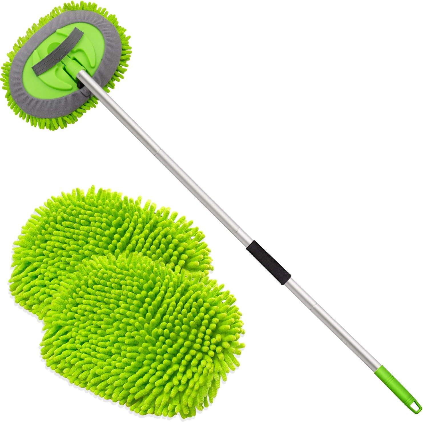 "Anngrowy 62"" Microfiber Car Wash Brush Mop Kit $17.84 Coupon"