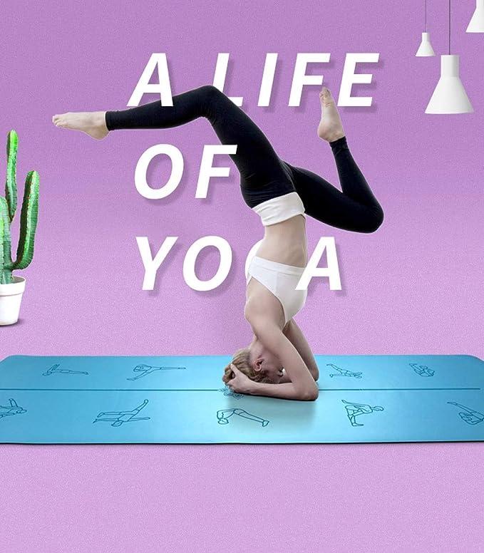 Amazon.com : YXGYJD Pilates Mat, Yoga Mat Rubber Laser ...