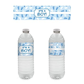 Amazon Boy Baby Shower Favors Water Bottle Labels 20 Count