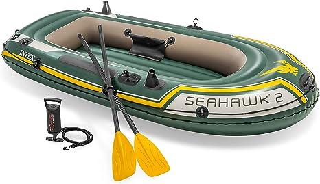 Intex Seahawk 2 Set Schlauchboot 236 X 114 X 41 Cm 3 Teilig Grün Amazon De Sport Freizeit