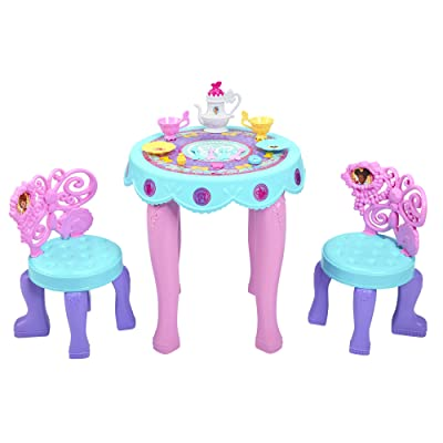 Fancy Nancy Tea Set - Fancy Nancy Toys, Life Size Tea Party Set Table and Chairs Included: Toys & Games