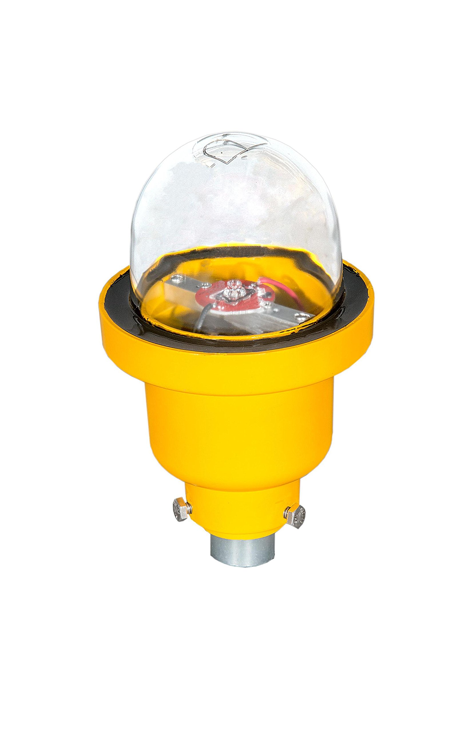 Single LED FAA L-810 Steady-Burning Obstruction Light, Red, 96-250V AC
