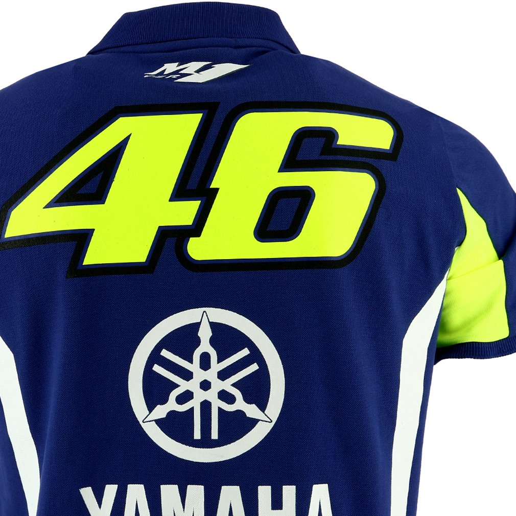 Valentino Rossi VR46 Moto GP M1 Yamaha Factory Racing Polo Camisa Oficial 2017