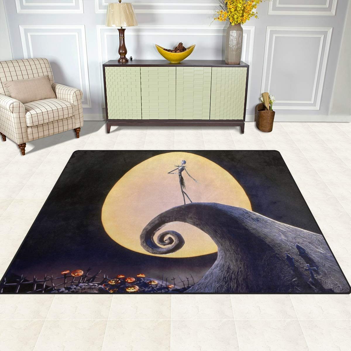 Amazon.com: The Nightmare Before Christmas Area Rug Rugs Dining Room ...