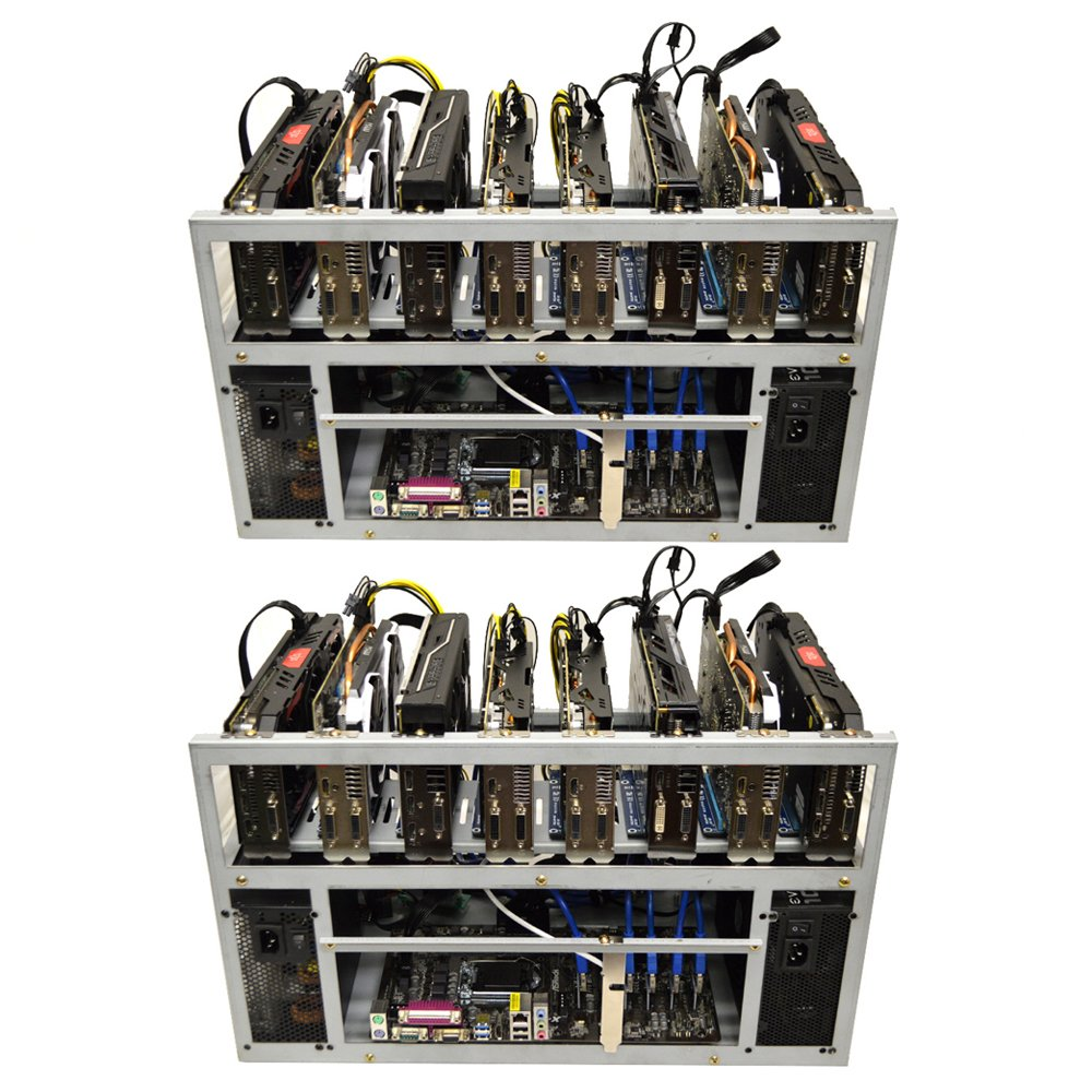 2-Pack Spartan V2 Open Air GPU Mining Rig Frame Computer Case Chassis - Ethereum ETH Zcash ZEC Monero XMR