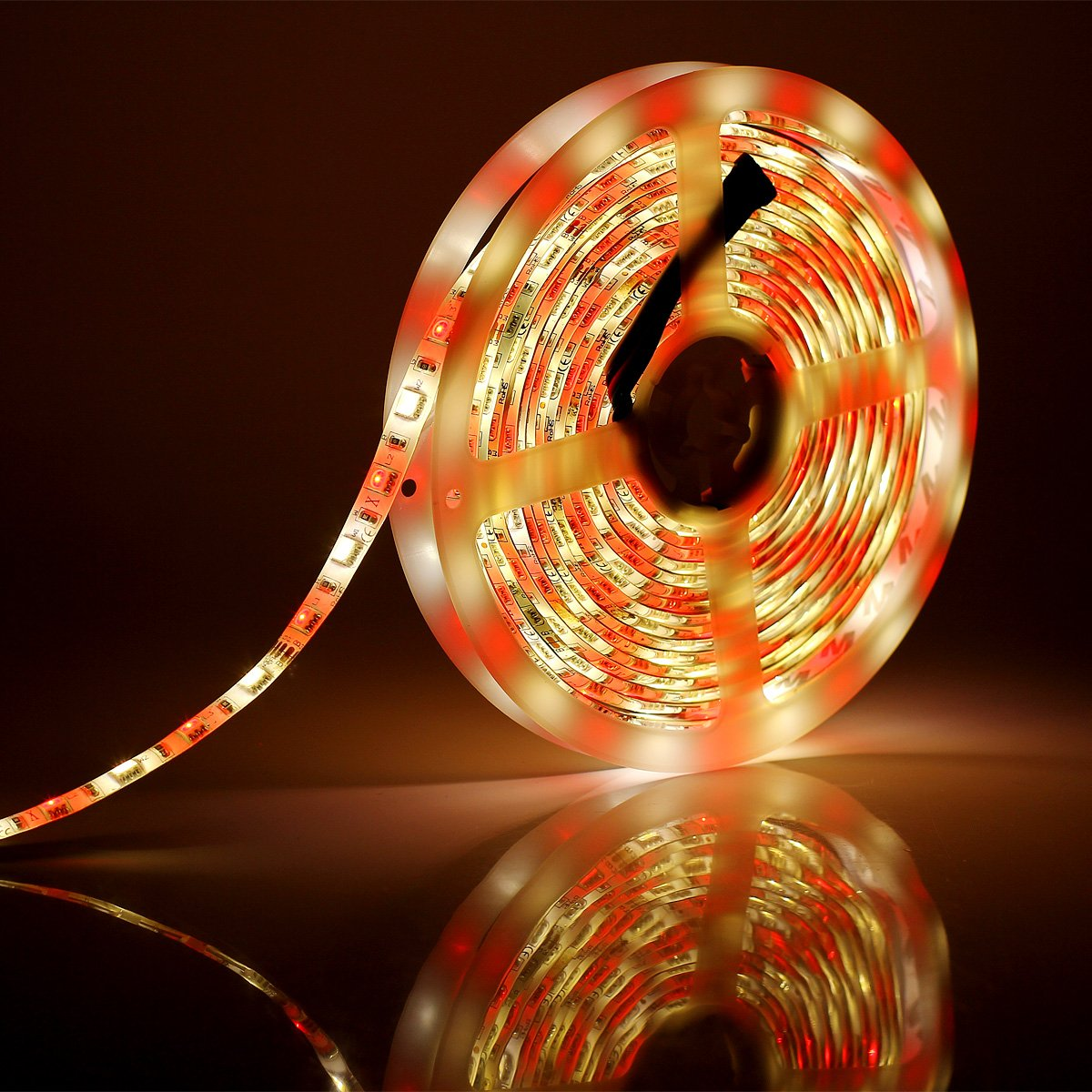 SUPERNIGHT RGBW LED Strip Light RGB Color Changing Rope Lighting with Warm White 3500K Color 16.4ft 300leds 5050 Tape Light (RGB + Warm White) by SUPERNIGHT (Image #8)