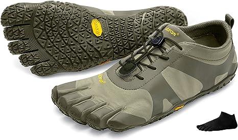 Vibram FiveFingers V de calcetines de dedos Alpha Women + – Set – Mujer Senderismo de dedos Zapatos/Bar Soporte con Gratis Calcetines de cinco dedos, Sand/Khaki, 36: Amazon.es: Deportes y aire libre
