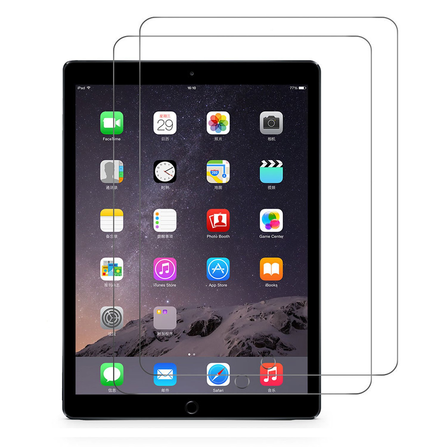 [2-pack] New iPad 9.7'' 2018/2017/Pro 9.7''/Air 2/Air Glass Screen Protector,RUBAN Tempered Glass Screen Protector for iPad 9.7-inch,Apple Pencil Compatible/Bubble-Free/Anti-Fingerprint, Clear