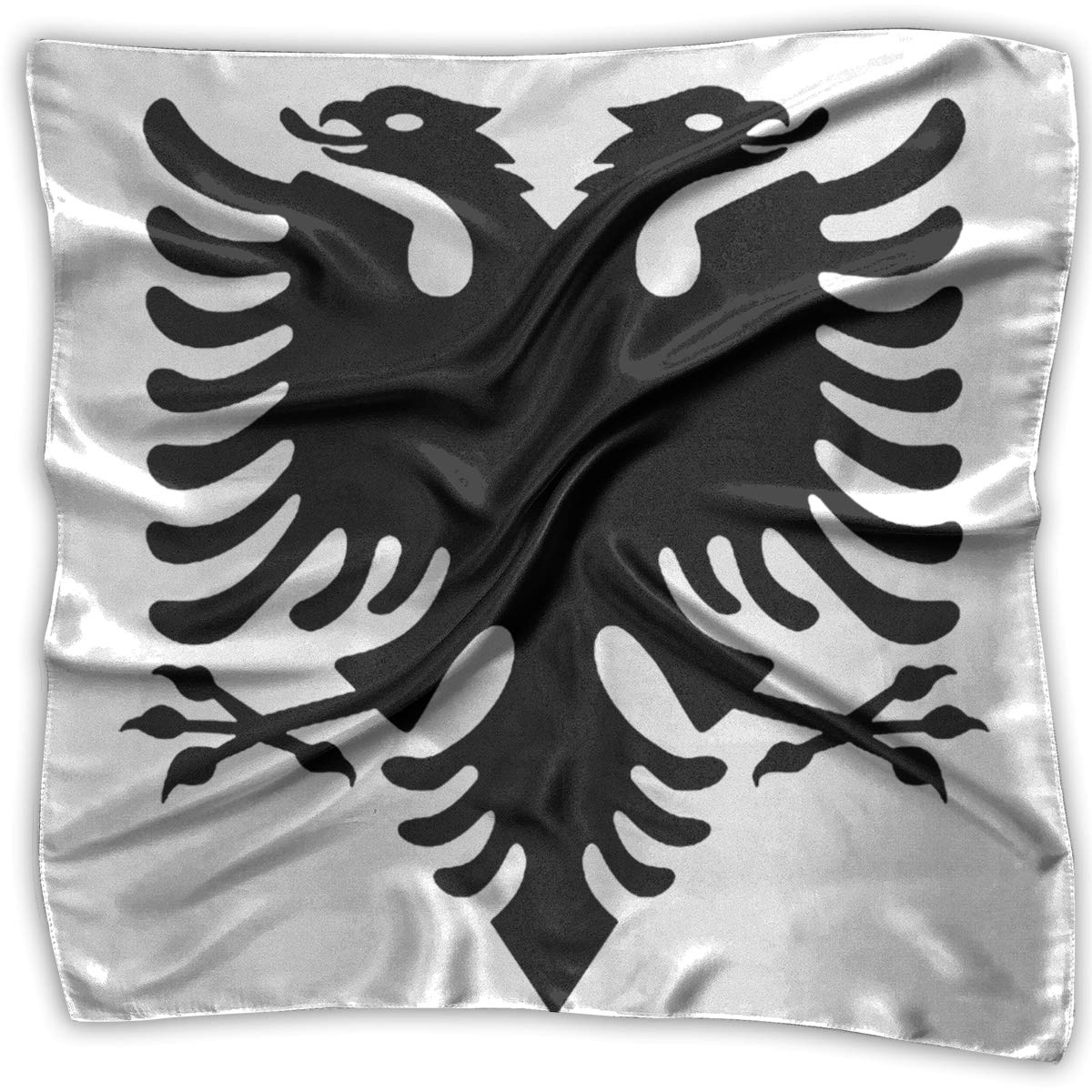 S M O4S8C239 Flag Of Albania Square Women Scarves Silk Skin Head Scarf For Spring Summer Size