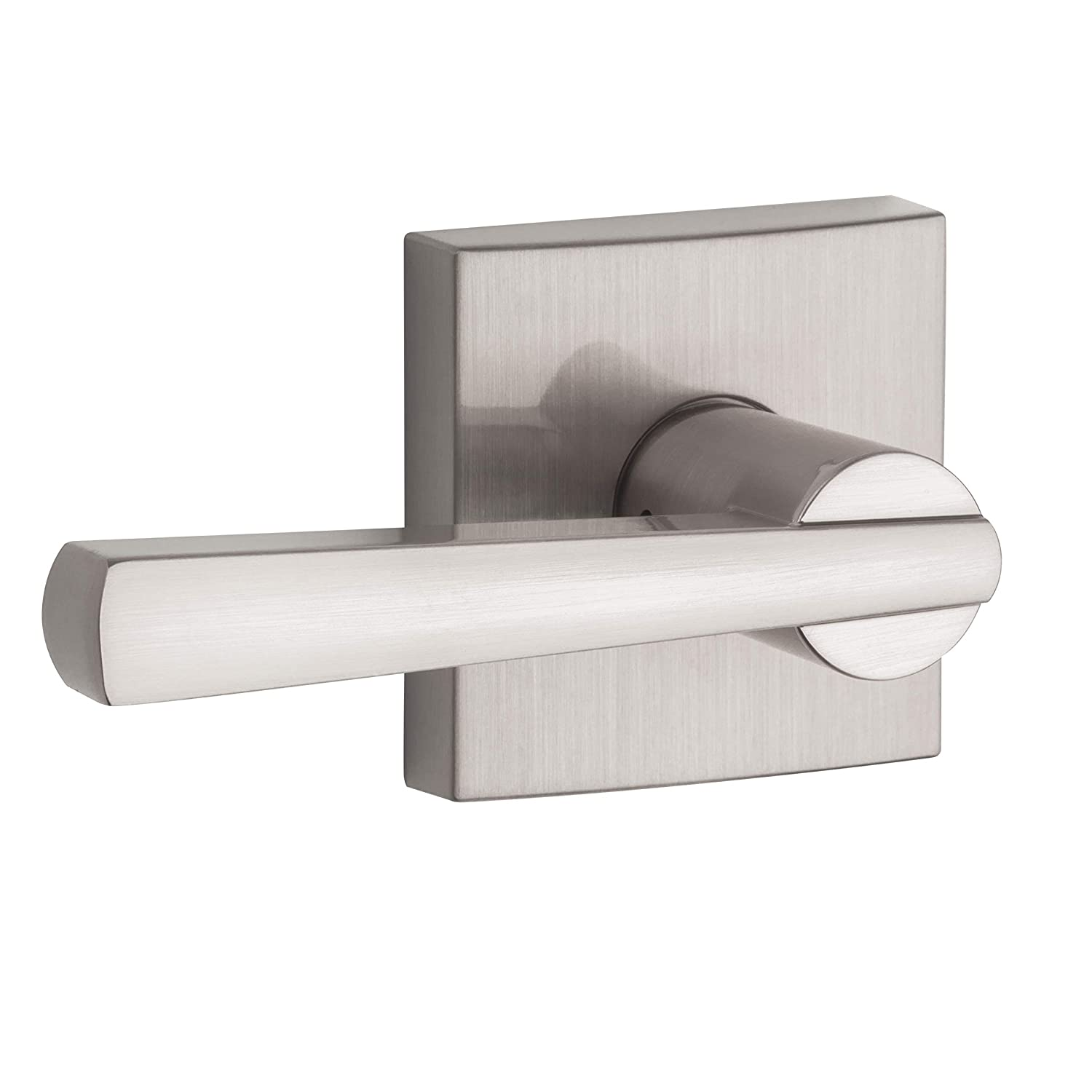 Baldwin Spyglass Passage Lever for Hall or Closet Door Handle in Satin Nickel, Prestige Series with a Modern Contemporary Slim Design for Interior Doors