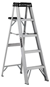 Louisville Ladder AS3005 Aluminum 5-foot ladder 300-Pound Duty Rating, 5